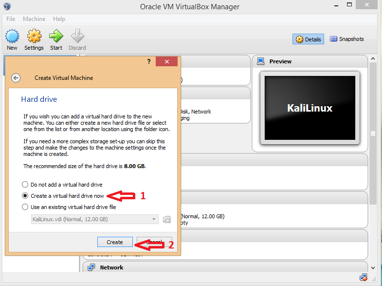 Installing Kali Linux on VirtualBox.