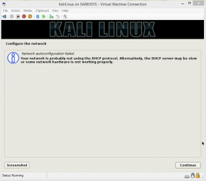Configuring Kali Linux VirtualBox.