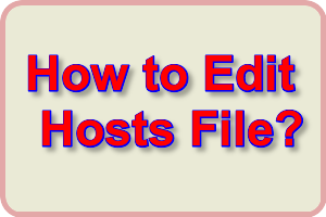 edit hosts file.
